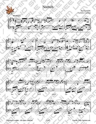 Nameh Sheet Music