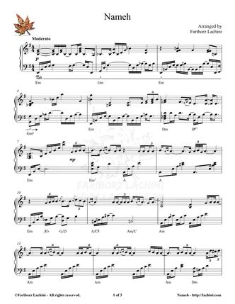 Nameh Musiknoten