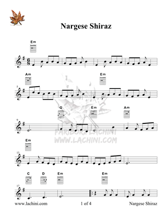 Nargese Shiraz Partituras