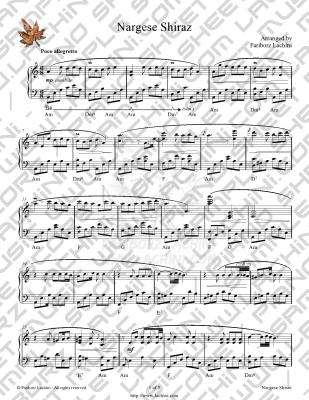 Nargese Shiraz Sheet Music