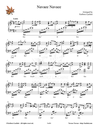 Navaee Navaee Sheet Music