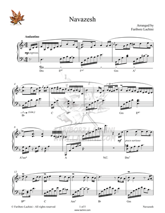 Navazesh Sheet Music