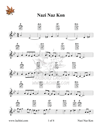 Nazi Naz Kon Sheet Music