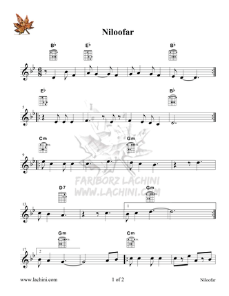 Niloofar Sheet Music