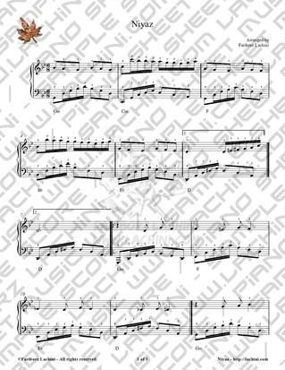 Niyaz Sheet Music