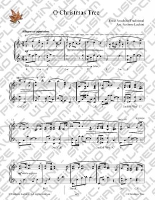 O tannenbaum partition piano