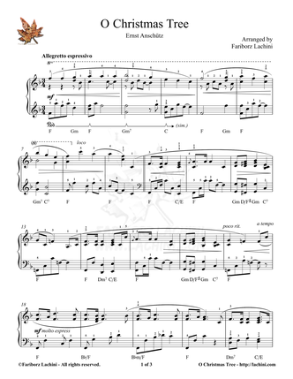 O Christmas Tree Sheet Music