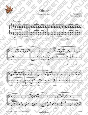 Oboor Sheet Music