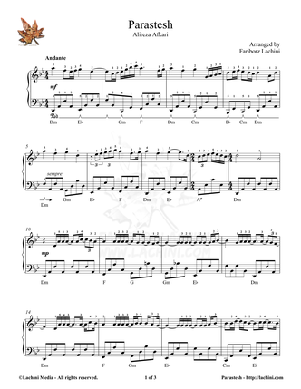 Parastesh Sheet Music