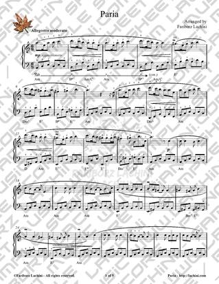 Paria Sheet Music