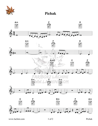 Pichak Sheet Music