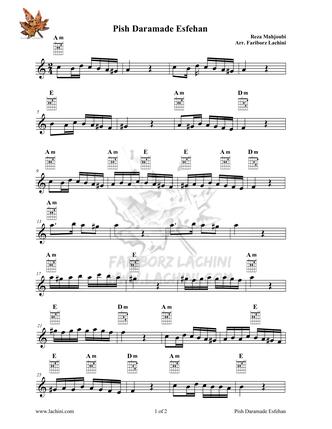 Pish Daramade Esfehan Sheet Music