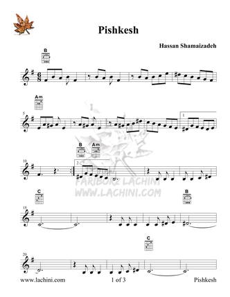 Pishkesh Sheet Music