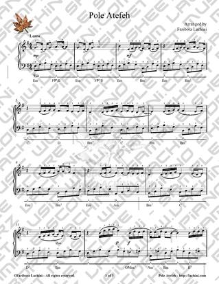 Pole Atefeh Sheet Music