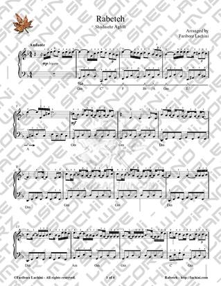 Rabeteh Sheet Music