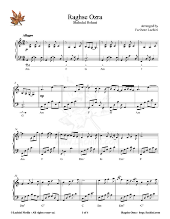 Raghse Ozra Sheet Music