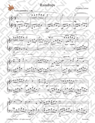 Raindrops Sheet Music