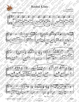 Rashid Khan Sheet Music