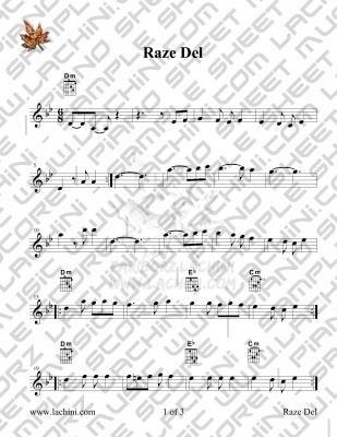 Raze Del Sheet Music