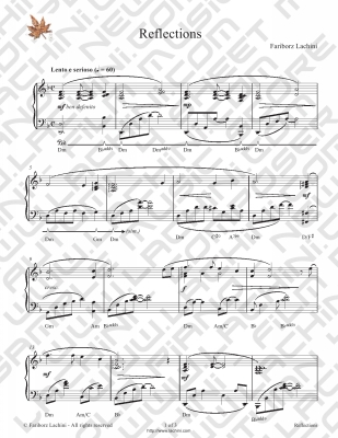 Reflections Sheet Music