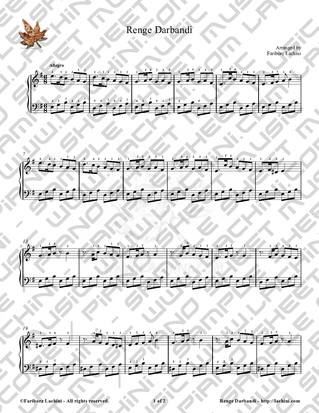 Renge Darbandi Sheet Music