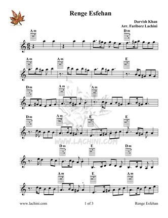 Renge Esfehan Sheet Music