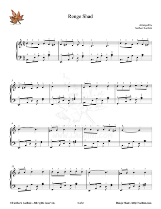 Renge Shad 1 Sheet Music
