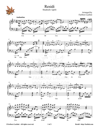 Residi Sheet Music