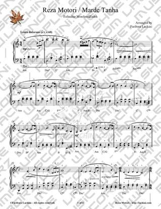 Reza Motori Sheet Music