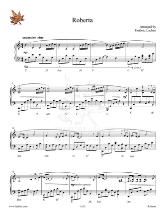 Roberta Sheet Music