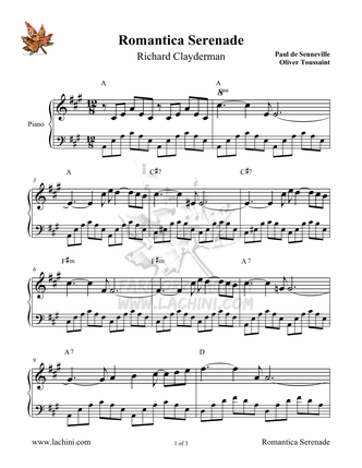Romantica Serenade Sheet Music