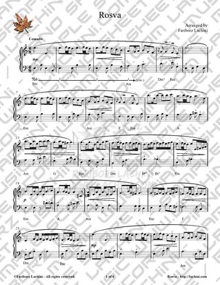 Rosva Sheet Music