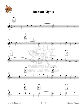 Russian Nights Sheet Music