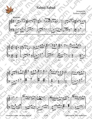 Sabad Sabad Sheet Music