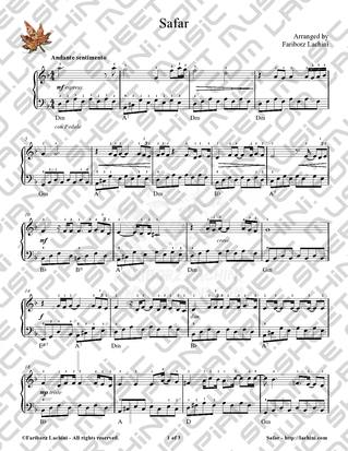 Safar Sheet Music