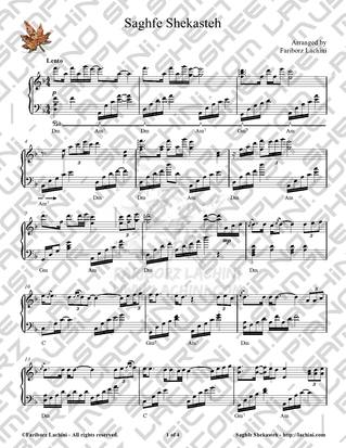 Saghfe Shekasteh Sheet Music