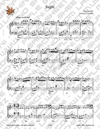 Saghi Sheet Music