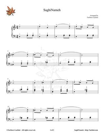 Saghi Nameh Sheet Music
