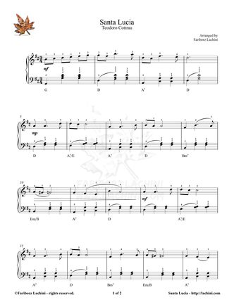 Santa Lucia 2 Sheet Music