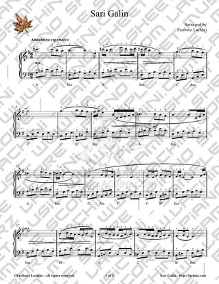 Sari Galin Sheet Music