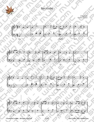 Sari Galin 2 Sheet Music