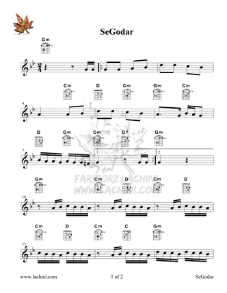SeGodar Sheet Music
