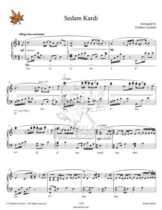 Sedam Kardi Sheet Music