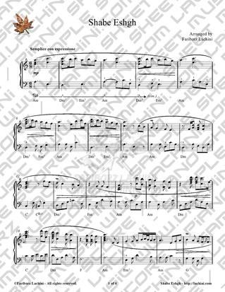 Shabe Eshgh Sheet Music