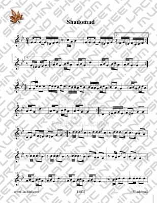 Shadomad Sheet Music