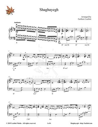 Shaghayegh Sheet Music