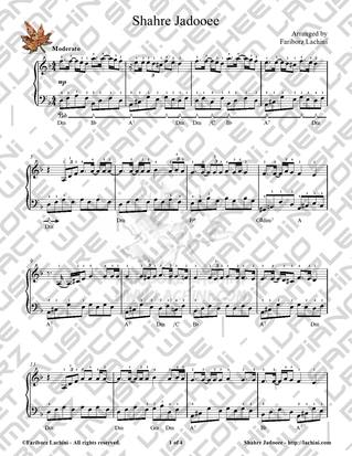 Shahre Jadooee Sheet Music