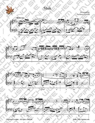 Shak Sheet Music
