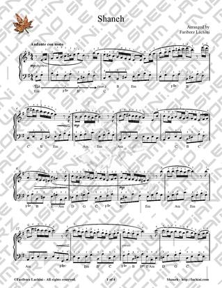 Shaneh Sheet Music