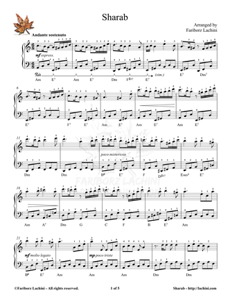 Sharab Sheet Music